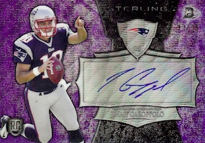 2014 Bowman Sterling Football Purple Wave Autograph Box Topper