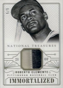 2014 National Treasures Immortalized Roberto Clemente Patch