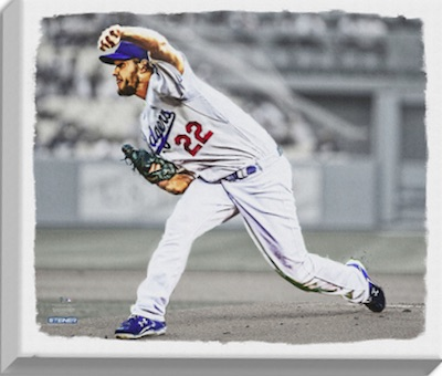 Clayton Kershaw Los Angeles Dodgers Canvas No Hitter Print