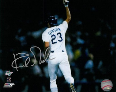Kirk Gibson Los Angeles Dodgers Signed Photo