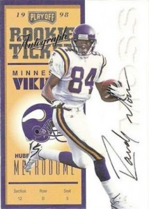 1998 Playoff Contenders Randy Moss RC #92 Autograph
