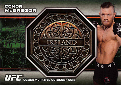 2013 Topps UFC Bloodlines Octagon Coins Conor McGregor