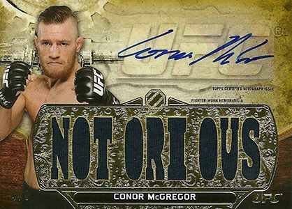 2014 Topps UFC Knockout Triple Threads Auto Relic Conor McGregor Gold 9