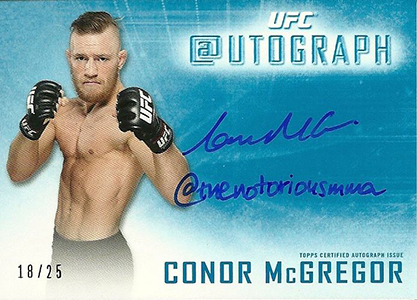 2014 Topps UFC Knockout Twitter Autograph Conor McGregor
