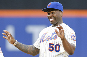 2015 Topps First Pitch Cards Honor 50 Cent's Infamous Toss