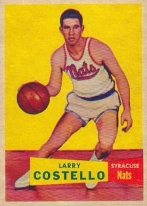 1957-58 Topps Larry Costello RC #33