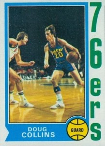 1974-75 Topps Doug Collins RC #129