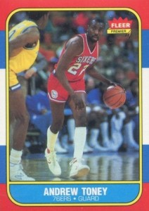 1986-87 Fleer Andrew Toney RC #114