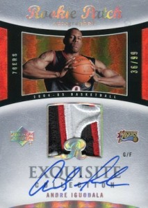 2004-05 Exquisite Collection Andre Iguodala RC #85 Autographed Patch
