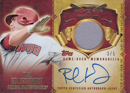 2015 Topps First Home Run Autographed Relic