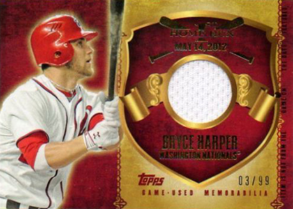 2015 Topps First Home Run Relic