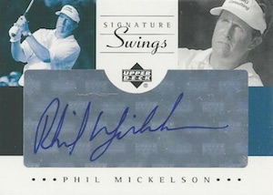 2002 SP Game Used Signature Swings Phil Mickelson
