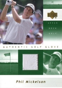 2002 Upper Deck Authentic Golf Glove Phil Mickelson #PM-G