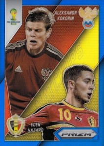 2014 Panini Prizm World Cup Eden Hazard Matchups Blue Parallel