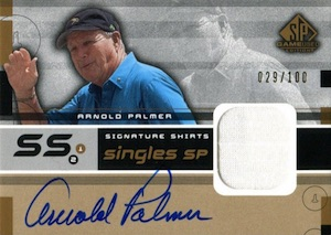 2003 SP Game Used Signature Shirts Singles Arnold Palmer