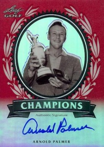 2012 Leaf Metal Arnold Palmer Champions Autographs Red Prismatic
