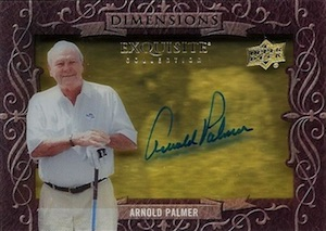 2014 Exquisite Collection Dimensions Shadowbox Autographs Arnold Palmer