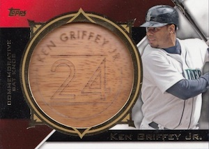 2015 Topps Series 2 Baseball Commemorative Bat Knobs Griffey