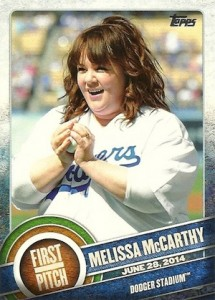 2015 Topps Series 2 Baseball First Pitch Melissa McCarthy