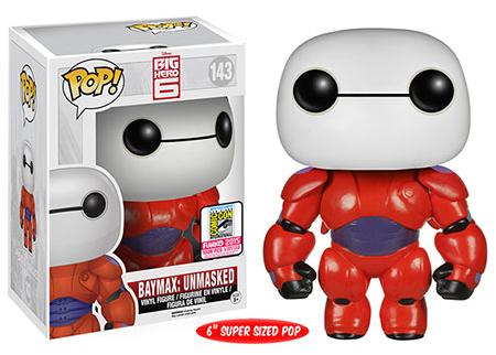 Funko Pop Disney 143 Baymax Unmasked 2015 SDCC