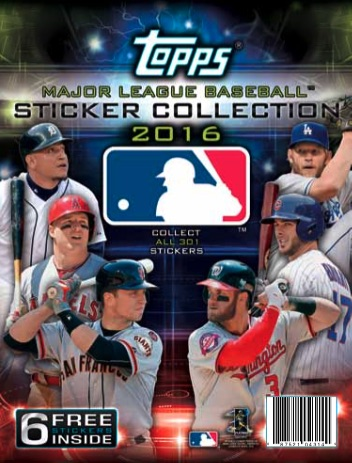 2016 Topps MLB Sticker Collection Album