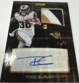 2016 Panini Super Bowl 50 Private Signings Football patch Gurley