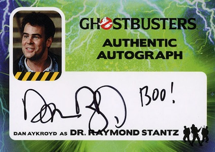 2016 Cryptozoic Ghostbusters Autograph Dan Aykroyd