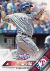 2016 Topps Opening Day Base Prince Fielder