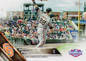2016 Topps Opening Day Baseball Variations Buster Posey