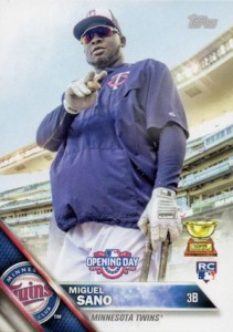 2016 Topps Opening Day Baseball Variations Miguel Sano RC