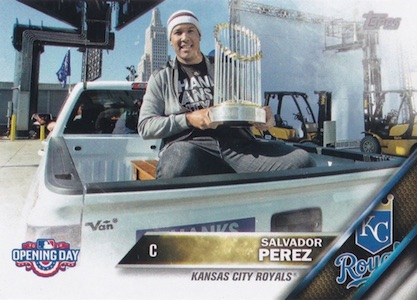 2016 Topps Opening Day Baseball Variations Salvador Perez