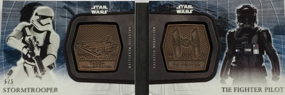 2016 Topps Star Wars The Force Awakens Series 2 DUAL MEDALION BOOK CARD