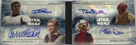 2016 Topps Star Wars The Force Awakens Series 2 QUAD BOOK AUTO