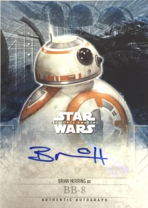 2016 Topps Star Wars The Force Awakens Series 2 bb8 Autograph
