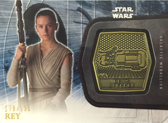 2016 Topps Star Wars The Force Awakens Series 2 rey gold medallion