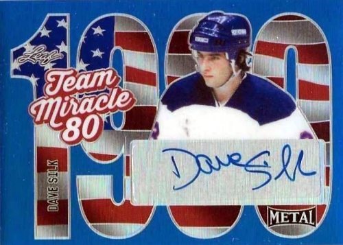 2015-16 Leaf Metal Hockey Team Miracle Autograph Dave Silk