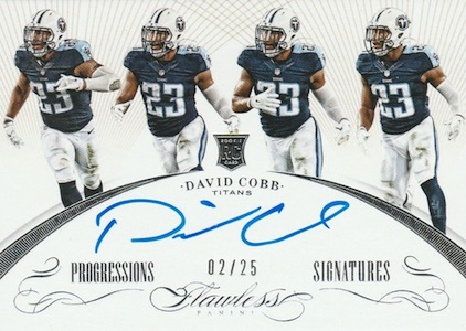 2015 Panini Flawless Football Progressions Signatures