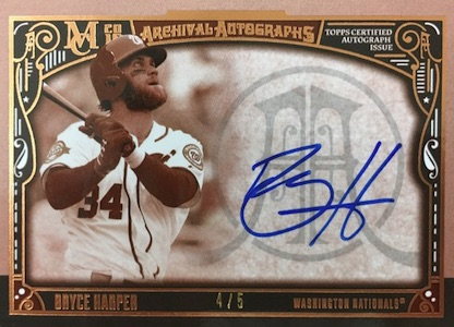 2016 Topps Museum Collection Baseball Archival Autographs Bryce Harper