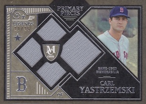 2016 Topps Museum Collection Baseball Single-Player Primary Pieces Quad Relic Legends Yastrzemski