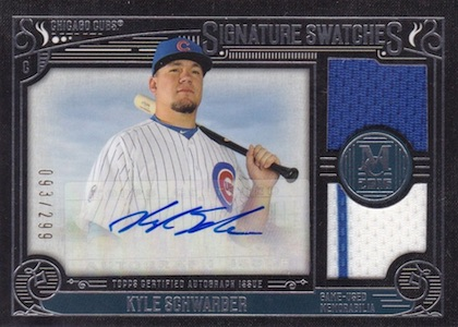 2016 Topps Museum Collection Baseball Single-Player Signature Swatches Triple Relic Autographs Schwarber