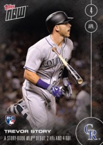 2016 Topps Now Baseball Trevor Story RC 4