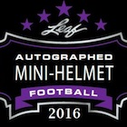 2016 Leaf Autographed Mini-Helmet Football