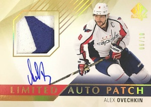2015-16 SP Authentic Hockey Base Limited Auto Patch Ovechkin