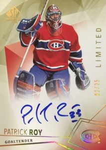 2015-16 SP Authentic Hockey Base Limited Autographs Patrick Roy