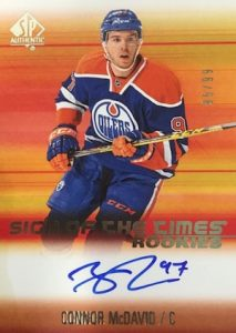 2015-16 SP Authentic Hockey Sign of the Times Rookies Connor McDavid