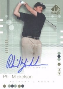 2002 SP Authentic Phil Mickelson RC #110 Autograph