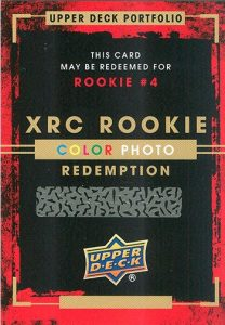 2015-16 Upper Deck Portfolio Hockey XRC Rookie Color Photo Redemptions