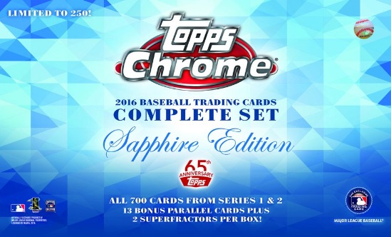 2016 Topps Chrome Baseball Complete Set Sapphire Edition main