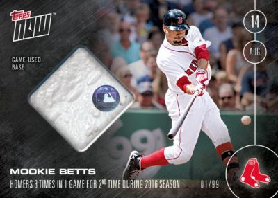 2016 Topps NOW Mookie Betts Relic