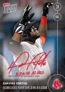 2016 Topps Now Baseball Autograph David Ortiz
